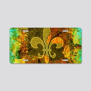 Louisiana Rustic Fleur de l Aluminum License Plate