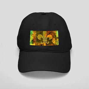 Louisiana Rustic Fleur de lis Black Cap