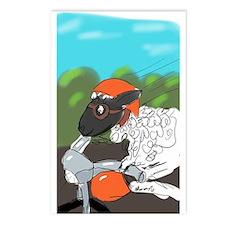 Ewe Biker Babe!. Postcards (package Of 8)