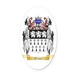 Oliver Oval Car Magnet