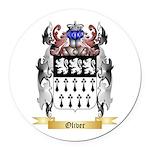 Oliver Round Car Magnet