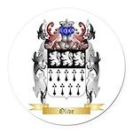 Olive Round Car Magnet