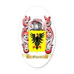 Olguin Oval Car Magnet