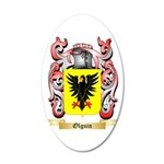 Olguin 20x12 Oval Wall Decal