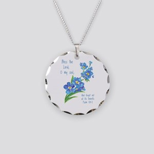 Forget Me Not Flowers With Necklace Circle Charm