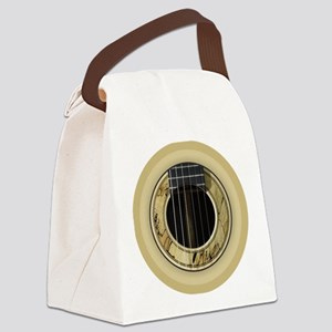 Guitar Round Canvas Lunch Bag