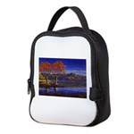 Lake morning Neoprene Lunch Bag