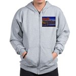 Lake morning Zip Hoodie