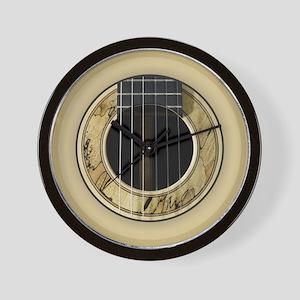 Guitar Round Wall Clock