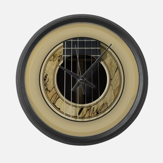 Guitar Round Large Wall Clock