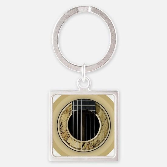 Guitar Round Keychains