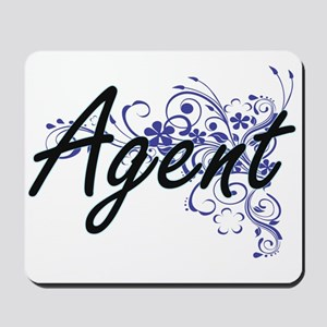 Agent Artistic Job Design with Flowers Mousepad