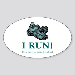 I RUN! Sticker