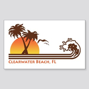 Clearwater Beach FL Sticker (Rectangle)