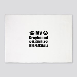 Greyhound is simply irreplaceable 5'x7'Area Rug