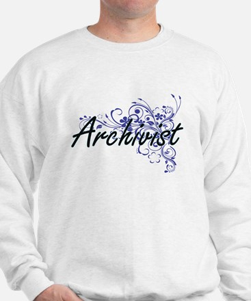 Archivist Artistic Job Design with Flow Sweatshirt