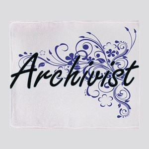 Archivist Artistic Job Design with F Throw Blanket