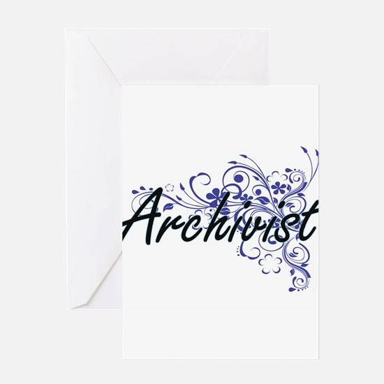 Archivist Artistic Job Design with Greeting Cards