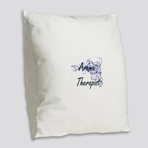 Aroma Therapist Artistic Job D Burlap Throw Pillow