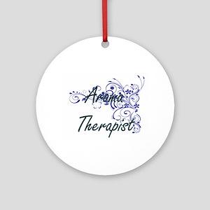 Aroma Therapist Artistic Job Design Round Ornament