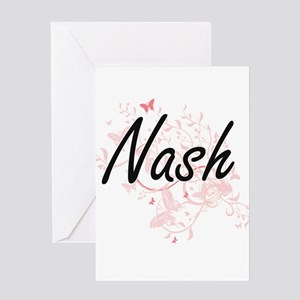 Nash surname artistic design with B Greeting Cards