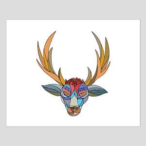 Red Stag Deer Head Mosaic Posters