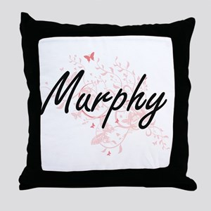 Murphy surname artistic design with B Throw Pillow
