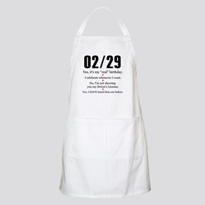 Leap Year Answers Light Apron