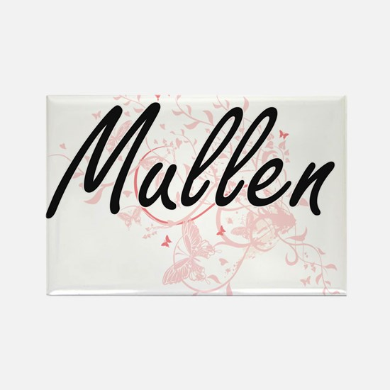 Mullen surname artistic design with Butter Magnets