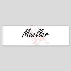 Mueller surname artistic design wit Bumper Sticker