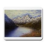 Mountain lake winter Mousepad