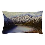 Mountain lake winter Pillow Case