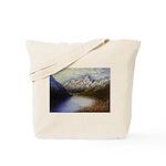 Mountain lake winter Tote Bag