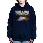 Mountain lake winter Women's Hooded Sweatshirt