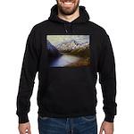 Mountain lake winter Hoodie