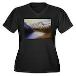 Mountain lake winter Plus Size T-Shirt