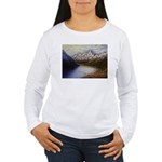Mountain lake winter Long Sleeve T-Shirt