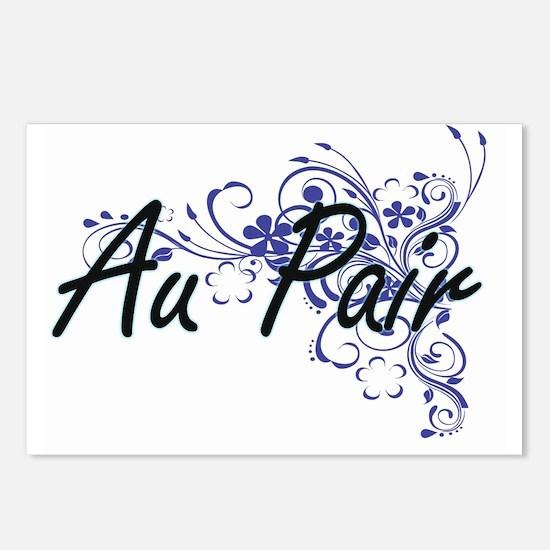 Au Pair Artistic Job Desi Postcards (Package of 8)