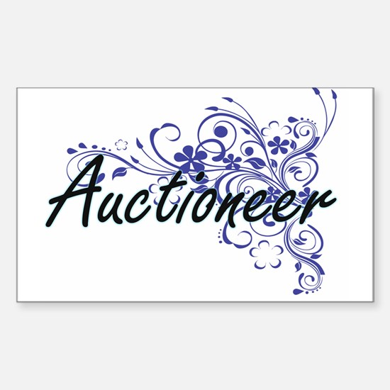 Auctioneer Artistic Job Design with Flower Decal