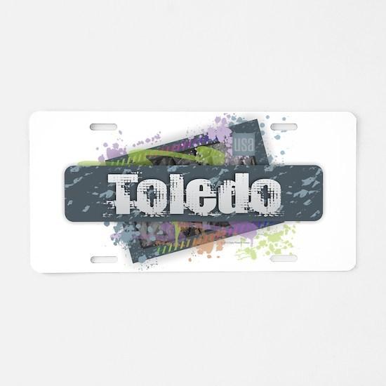 Toledo Design Aluminum License Plate