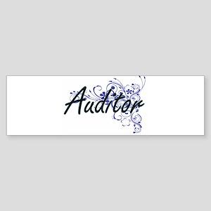 Auditor Artistic Job Design with Fl Bumper Sticker