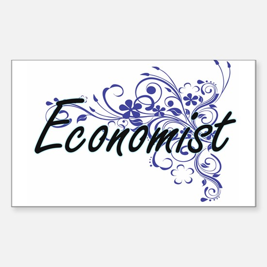 Economist Artistic Job Design with Flowers Decal