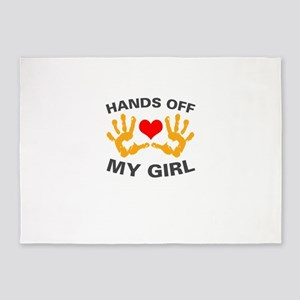 Hands Off My Guy and Girl 5'x7'Area Rug