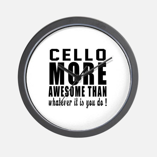 Cello More Awesome Instrument Wall Clock