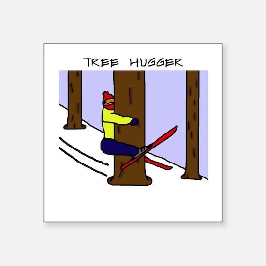 """Cute Winter tree Square Sticker 3"""" x 3"""""""