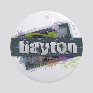 Dayton Design Round Ornament
