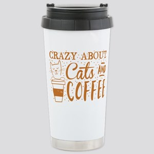 Crazy about cats and co Stainless Steel Travel Mug