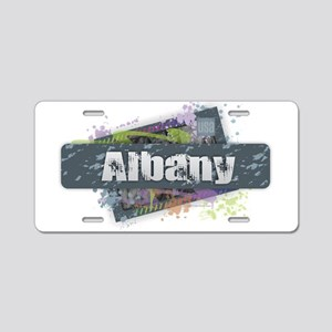 Albany Design Aluminum License Plate