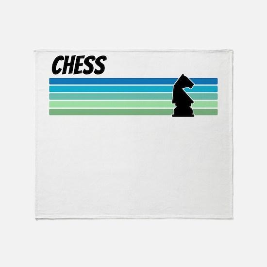Retro 1970s Chess Throw Blanket