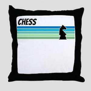 Retro 1970s Chess Throw Pillow